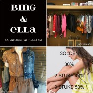 Bing&Ella is open op zondag 3 juli van 13u tot 17u - Soooooolden 30% - 2 stuks 40% - 3 stuks 50% - Nieuwe etalage online https://bingenella.com/etalages - Gesloten op maandag 4 juli - 03.07.2016